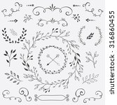 hand drawn vector design... | Shutterstock .eps vector #316860455