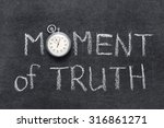 moment of truth phrase... | Shutterstock . vector #316861271