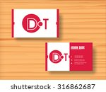 professional stylish horizontal ... | Shutterstock .eps vector #316862687