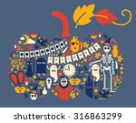 composition with halloween... | Shutterstock .eps vector #316863299