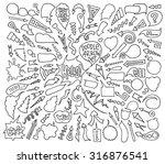 cartoon sketch arrows and... | Shutterstock .eps vector #316876541