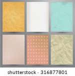 scrapbooking set. old paper... | Shutterstock .eps vector #316877801