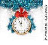 illustration new year midnight... | Shutterstock .eps vector #316880519