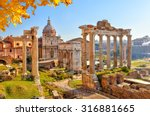 roman ruins in rome  italy | Shutterstock . vector #316881665