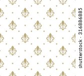 pattern with royal lily.... | Shutterstock .eps vector #316886885