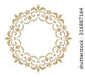 vector decorative line art... | Shutterstock .eps vector #316887164