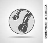 furniture wheel icon on grey... | Shutterstock . vector #316888865