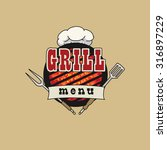 grill menu symbol  icon  with... | Shutterstock .eps vector #316897229