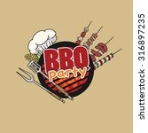 bbq party  barbecue  symbol ... | Shutterstock .eps vector #316897235