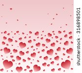many colorful hearts. hearts... | Shutterstock .eps vector #316898501
