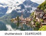hallstatt village in austrian... | Shutterstock . vector #316901405