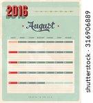 vintage style 2016 calendar  ... | Shutterstock . vector #316906889