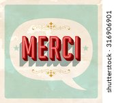 """merci ""   french word for ... 