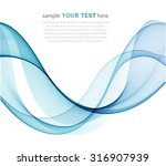 abstract blue waves on white  | Shutterstock .eps vector #316907939