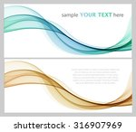 abstract colorful waves on white | Shutterstock .eps vector #316907969