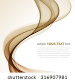 abstract  waves on white  | Shutterstock .eps vector #316907981