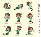 cartoon businesswoman character ... | Shutterstock .eps vector #316912601