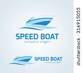 speed boat vector logo template | Shutterstock .eps vector #316915055