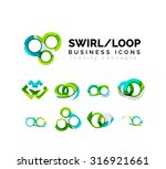 set of infinity concepts  loop... | Shutterstock . vector #316921661