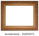 gold picture frame with a... | Shutterstock . vector #31693471
