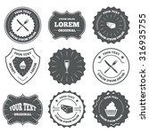 vintage emblems  labels. food... | Shutterstock .eps vector #316935755