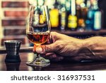 alcoholism. hand alcoholic and... | Shutterstock . vector #316937531