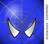 vector superhero blue  icon.... | Shutterstock .eps vector #316940465