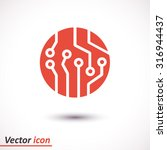 circuit board  icon. technology ... | Shutterstock .eps vector #316944437