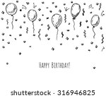 hand drawn party background... | Shutterstock . vector #316946825