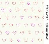 vector doodle seamless pattern. ... | Shutterstock .eps vector #316953119