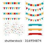 vector illustration of colorful ... | Shutterstock .eps vector #316954874