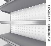 empty supermarket shelf in... | Shutterstock . vector #316959251