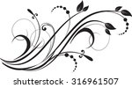 floral background with... | Shutterstock .eps vector #316961507