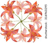lily  pattern  | Shutterstock . vector #316963295