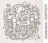 2016 new year doodles elements...   Shutterstock .eps vector #316973174