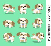 Cartoon Character Shih Tzu Dog...