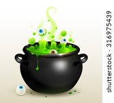 vector black witches cauldron... | Shutterstock .eps vector #316975439