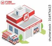 fire department building | Shutterstock .eps vector #316976615