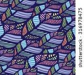 seamless leaf dark colorful...   Shutterstock .eps vector #316978475