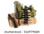 Army Box Of Ammunition With...