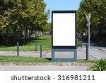 blank outdoor billboard in... | Shutterstock . vector #316981211