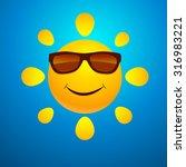smiling sun | Shutterstock .eps vector #316983221