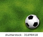 3d soccer ball isolated on... | Shutterstock . vector #31698418