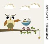 scrapbook design elements. baby ... | Shutterstock .eps vector #316989329