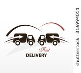fast delivery poster for... | Shutterstock .eps vector #316994051