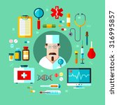 vector set of icons medical... | Shutterstock .eps vector #316995857