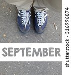 male sneakers with september on ... | Shutterstock . vector #316996874