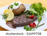 sirloin strip steak with...