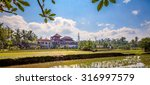 big house in the middle of rice ... | Shutterstock . vector #316997579