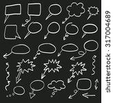 doodle arrows vector set | Shutterstock .eps vector #317004689